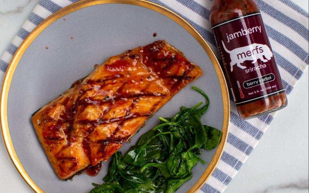 Recipe: Salmon with Jamberry Sriracha