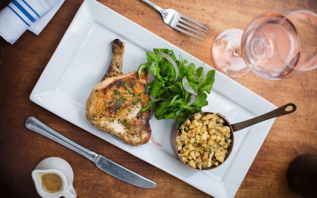 Recipe: Bistro Vendome Roasted Chicken with Cauliflower Gratin